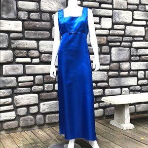 Satin Formal Dress Royal Blue Vintage Jordan sz 20